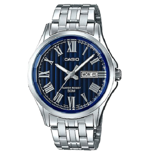 6a2e3b42b Buy Casio Silver Alloy Analog Quart Blue Watch Online in Pakistan ...