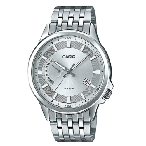Casio Men's Day Date Stainless Steel Silver Watch