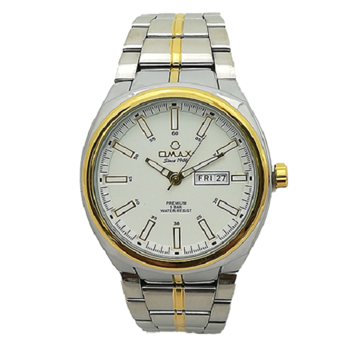 Omax Men's Gold Tow Tone Mineral Watch