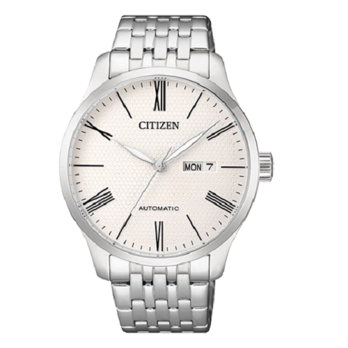 Citizen White Dial Stainless Steel Bracelet Day Date Men's Watch