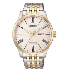 Citizen Men's Gold Silver Stainless Steel Analog Watch
