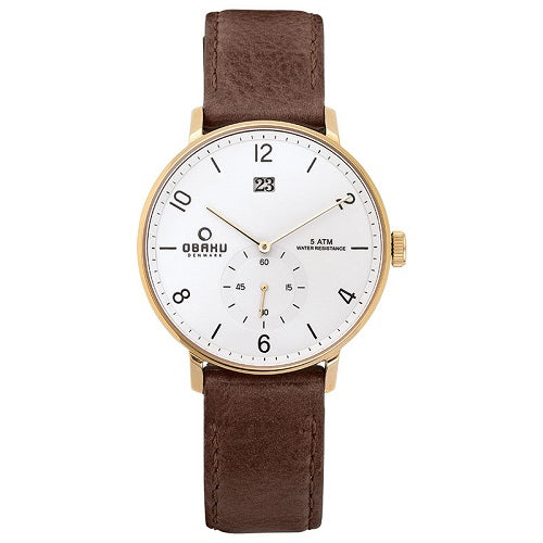 Obaku New Men's Rislen ChestNut Watch