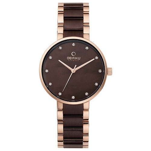 Obaku Woman's Glad Nut Stainless Steel Watch