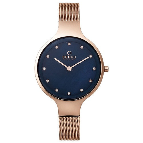 Obaku Harmony Ladies Milanaiseband Stainless Steel Watch
