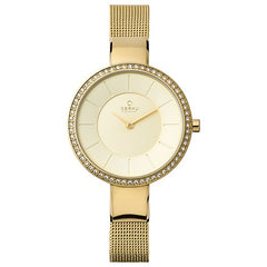 Obaku Denmark Ladies Watch SS L P Gold Adjustable Mesh Strap