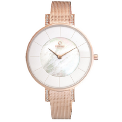 Obaku Ladies Rose Stainless Steel Watch Adjustable Mesh Strap