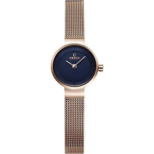 Obaku Ladies Spire Azure RoseGold Case Watch