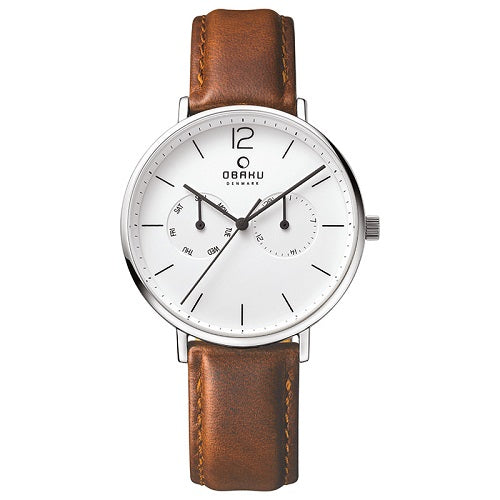 Obaku Men's Flod Chrono Mocha Leather Watch