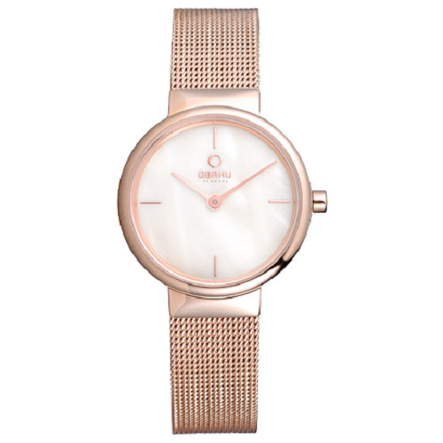 Obaku Women's Analog Display Rose Gold Quartz Watch
