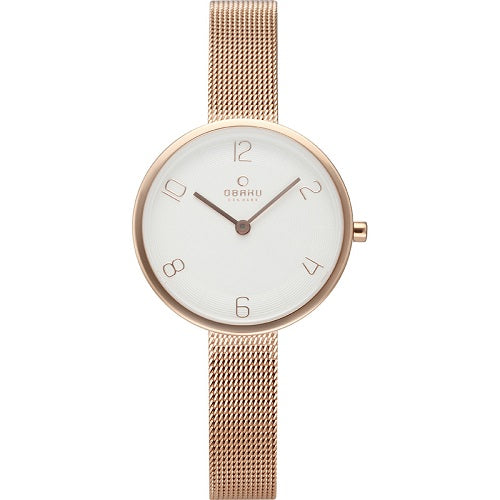Obaku Women's Rose Gold Stainless Steel Watch
