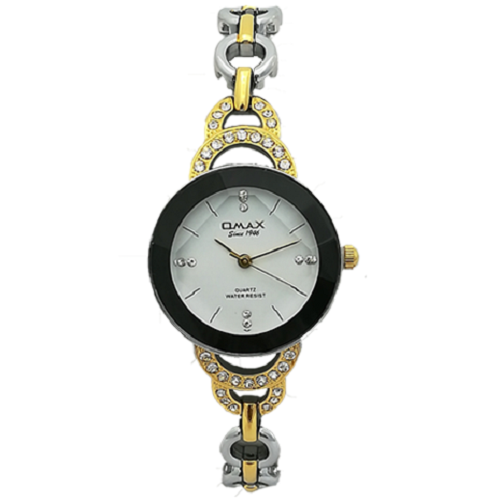 Omax Analog Gold Tone Dial Women's Watch