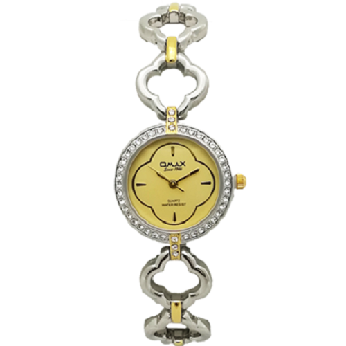 Omax Silver Gold Analog Watch For Women
