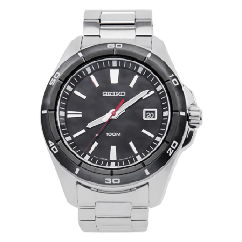 Seiko Analog Black Dial Men's Dress Watch
