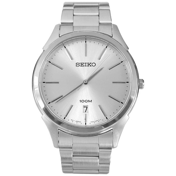 Seiko Classic Silver Dial Stainless Steel Men's Quartz Watch