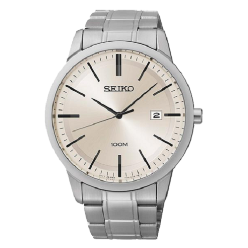 Seiko Classic Silver Dial Stainless Steel Men's Watch