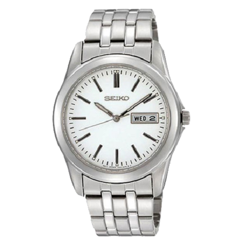 Seiko Gents Quartz Dress Stainless Steel Hardlex Watch