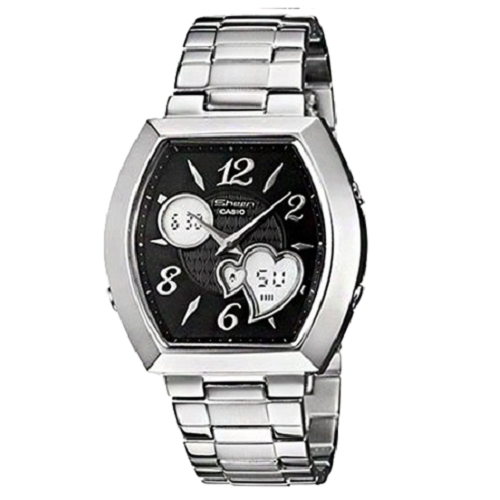 Casio Sheen Analog Digital Women's Black Dial Fashion Watch