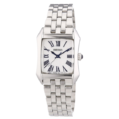 Seiko Quartz Ladies Analog Grey Dial Bracelet Watch