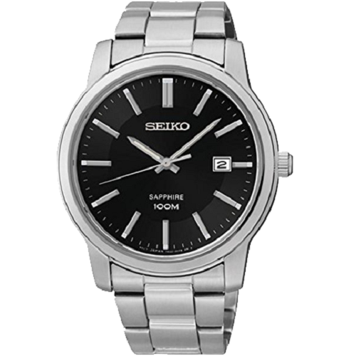 Seiko Men's Date Sapphire WR Screwed Case Watch