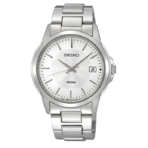 Seiko Men's Stainless Steel Silver Dial Bracelet Watch