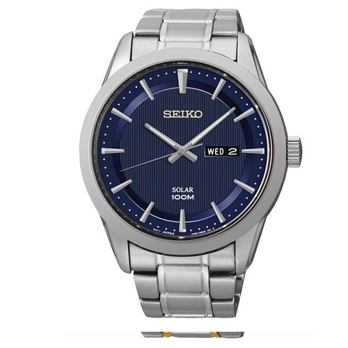 Seiko Solar Powered 100M Men's Analog Display Watch