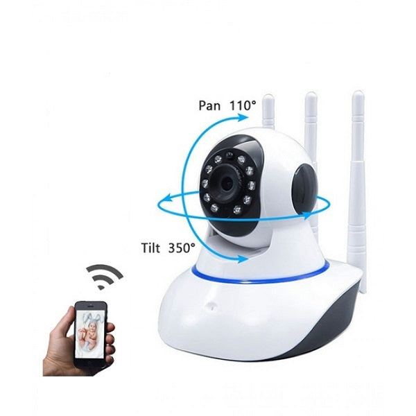 Ip Wireless Camera 360 With 3 Antenna