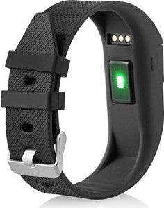TW64S Black Smart Fitness Tracker with Heart Rate Monitor