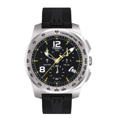 Tissot Men Watch Quartz Chronograph Black Rubber