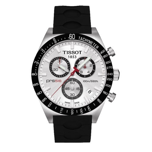 Tissot PRS Men's Black Silicone Strap Watch