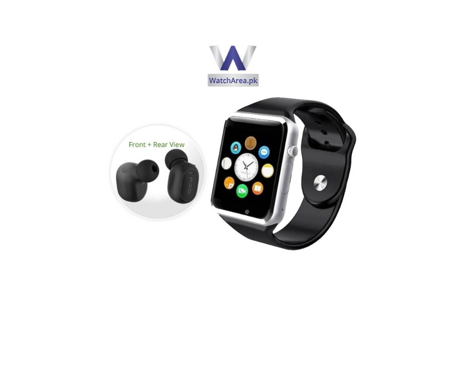 BUNDLE DEAL (Pack of 2)- W08 smart watch +QCY Mini 2 Bluetooth Handsfree