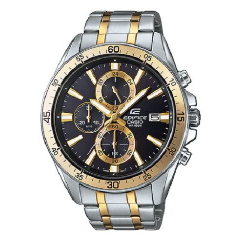 Casio White Men's Watch Edifice Analog Steel Band