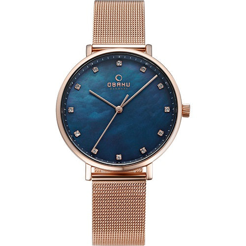 Obaku Women's Denmark Blue Dial Watch