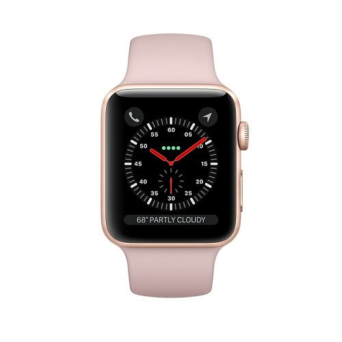 Apple iWatch Series 3 38mm Gold Aluminium Case With Pink Sand Sport Band