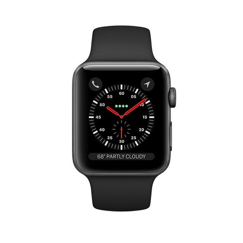 Apple iWatch Series 2 Space Gray Aluminum Case with Black Sport Band