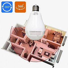 Ip Wireless Panoramic Hidden Bulb Camera