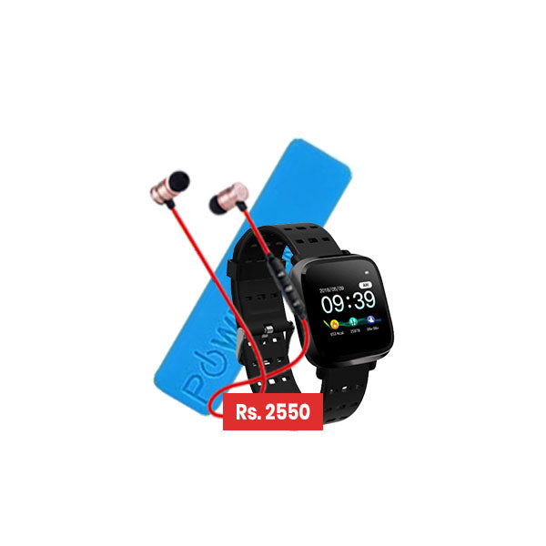 Pack of 3 - Y8 Fitness Band + Power Bank + BT Handsfree with Free Delivery