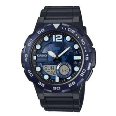 Casio Men's Analog Blue Dial Sport's Rubber Stylish Watch