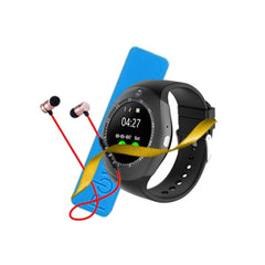 Pack of 3 - Y1s Smart Watch + Power Bank + BT Handsfree with Free Delivery