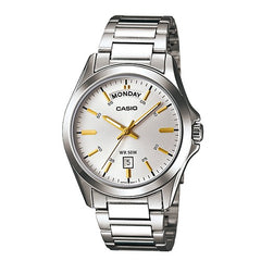 Casio Man's Analog Classic Stainless Steel Silver Watch