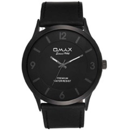 Omax Men's Leather Analog Quartz Classic Casual Watch