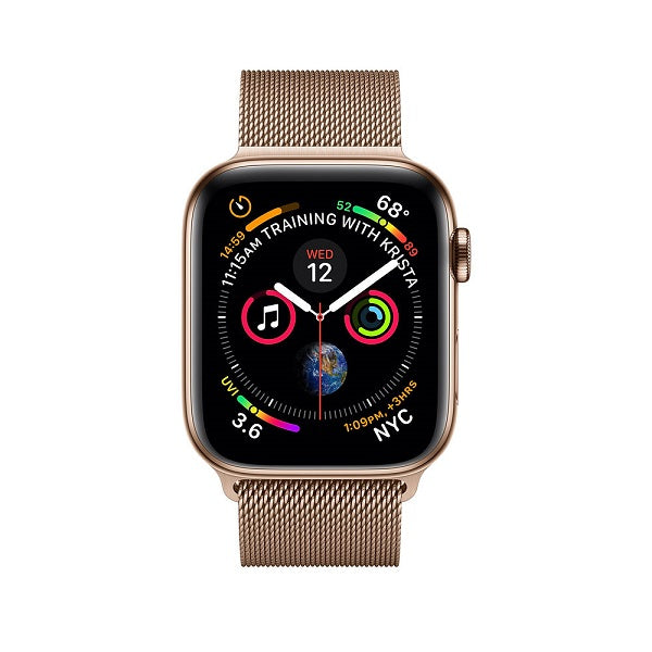 Apple Smart Watch Series 5 44mm Gold Stainless Steel Case with Milanese Loop