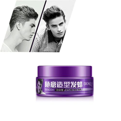 Men Random Styling Pomade Hair Mud Wax Long-lasting Moisturizing Fluffy Easy To Stereotypes Hair Gel  H7JP