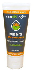 The Men's SPF 30+ sunscreen is neutral in scent and is non-comedogenic (formulated to prevent blocked pores and breakouts). Effective for every day use or sports/outdoor activities!