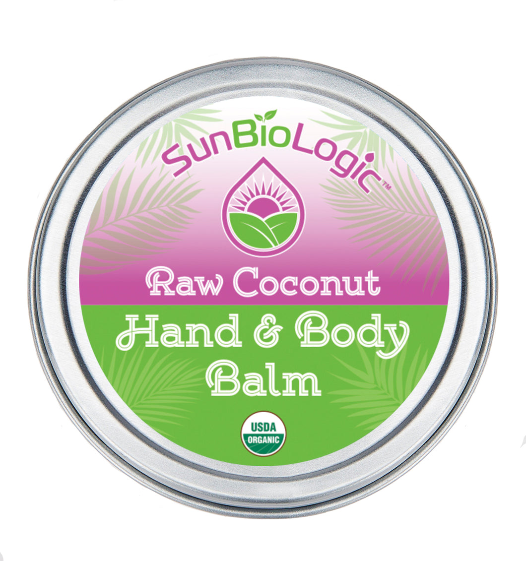 A small amount provides ultimate skin hydration! Our Raw Coconut Balm softens cracked skin, protects the skin barrier, moisturizes the full body, relieves eczema, and hydrates dry, chapped skin.