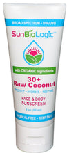 The Raw Coconut SPF 30+ is our best-selling product. Chemical free, neutral in scent, and hydrating for your skin.