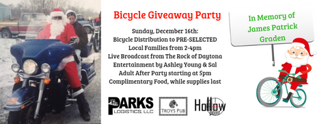 holiday bicycle giveaway hollowpoint apparel and beef jerky
