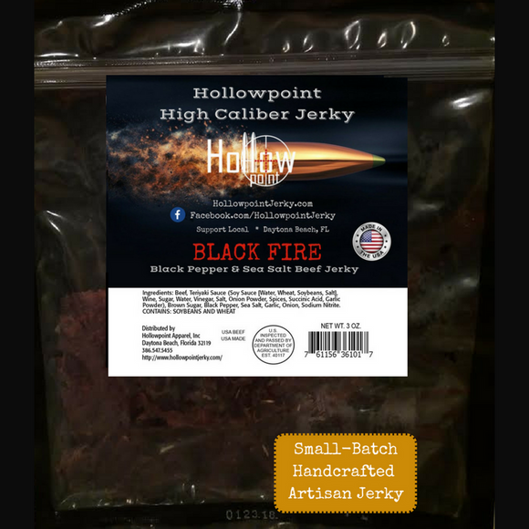 black fire beef jerky hollowpoint jerky 3 ounces