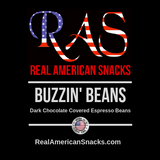 RAS Buzzin' Beans Dark Chocolate Covered Espresso Beans 4oz.