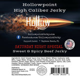 Saturday Night Special Sweet and Spicy Hollowpoint Beef Jerky Ingredients
