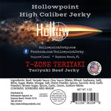 t-zone teriyaki beef brisket jerky hollowpoint ingredients